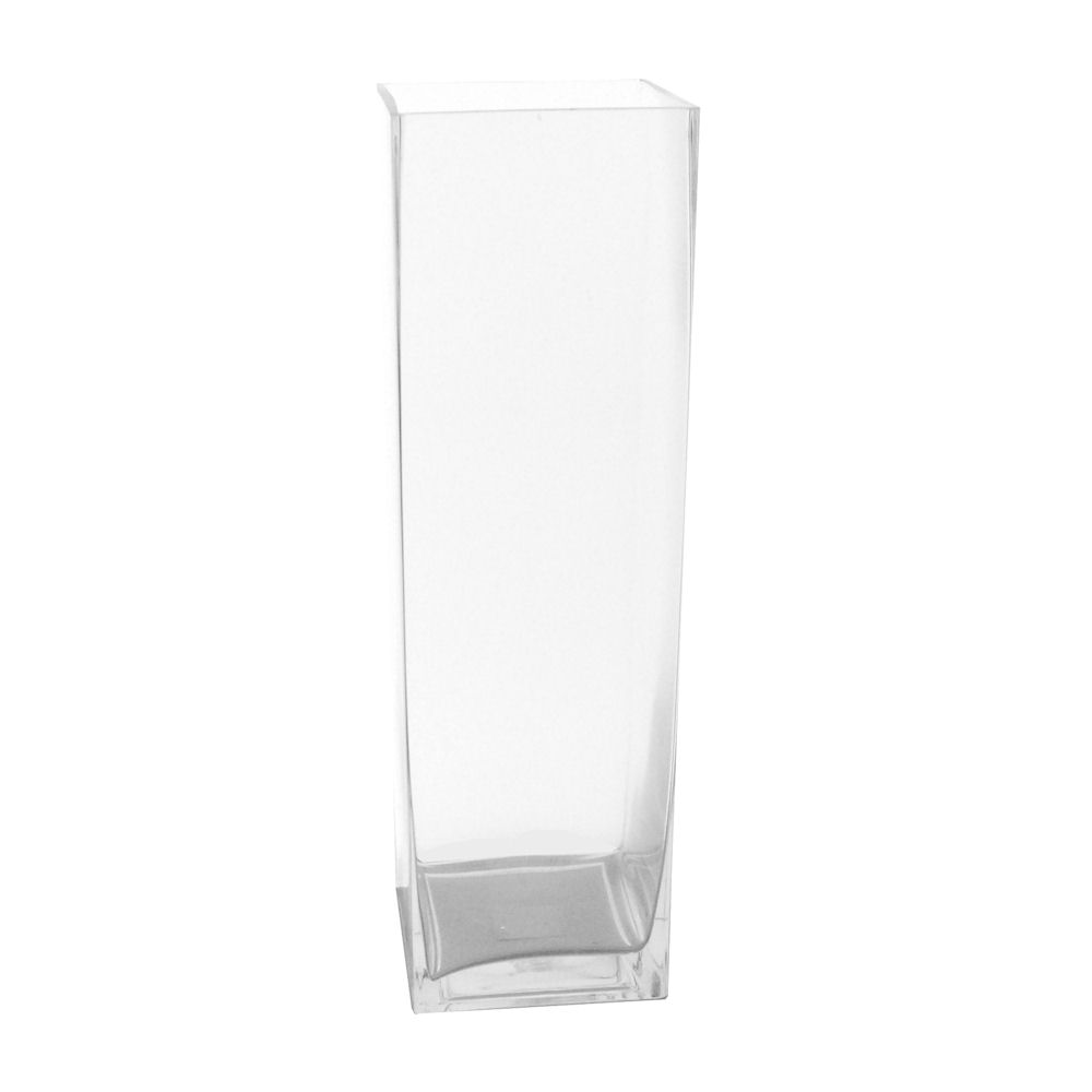 Glass vases lerman decor inc square glass vase 475x475x1575 shipping pack of 2 suggested retail 2400 reviewsmspy